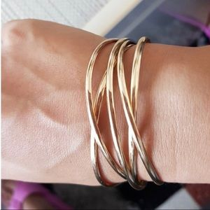 Jewelry - Gold Criss Cross Cuff Bracelet